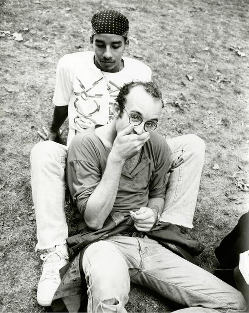 , 'Keith Haring & Juan Dubose in Park,' 1983, Gagosian