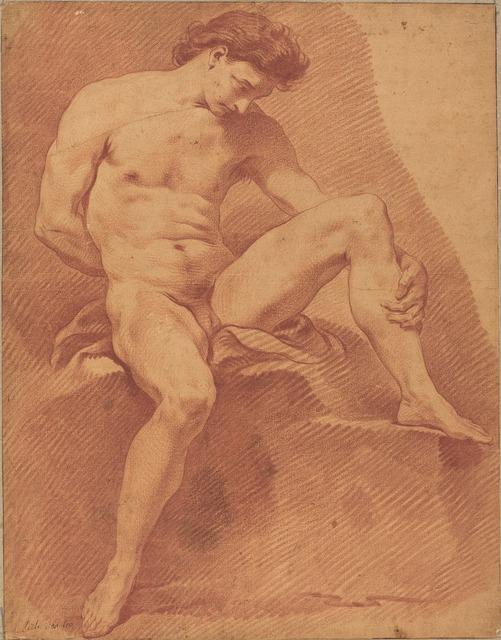 Carle Van Loo, 'A Seated Male Nude', National Gallery of Art, Washington, D.C.