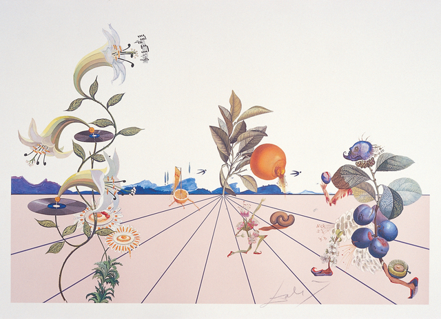 Salvador Dalí, 'Flordali I', 1981, Drawing, Collage or other Work on Paper, Coloured lithograph after an original collage, Dali Paris