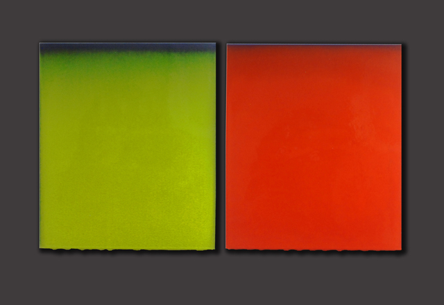 , 'Green and Orange Dyptich,' 2015, Eutectic Gallery