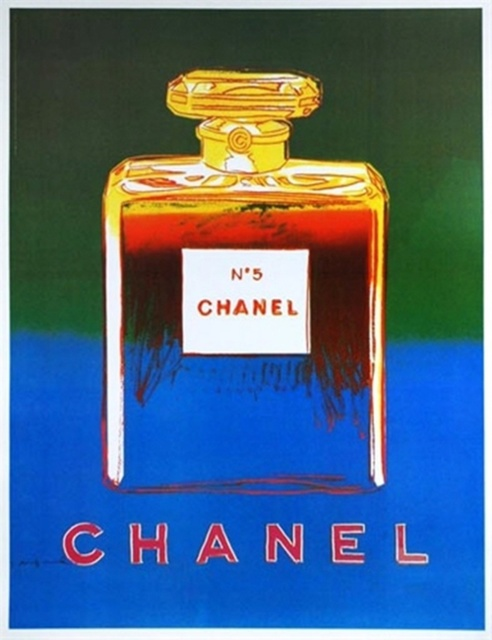 Andy Warhol, 'Chanel No. 5 (Blue & Green)', ca. 1997, Posters, Offset lithograph mounted on linen backing. Signed on the plate, Alpha 137 Gallery