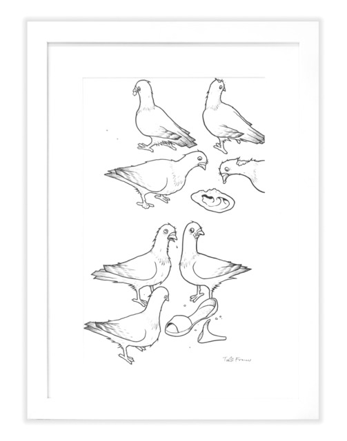 , 'PFANNER PIGEONS LINE ART W/ HIGH HEEL,' , Subliminal Projects