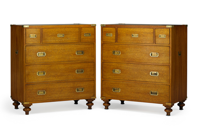 Ralph Lauren, 'Pair Of Ralph Lauren Mahogany Campaign Chests', 20th c., Design/Decorative Art, Rago/Wright