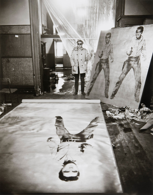 , 'Andy Warhol (in his studio with Elvis Presley Print), New York,' 1962, Danziger Gallery