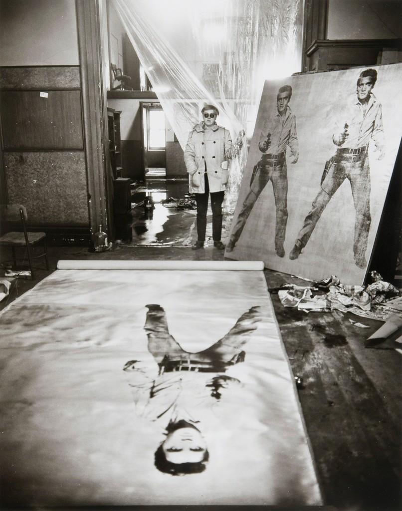 evelyn hofer andy warhol in his studio with elvis