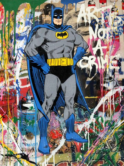 Mr. Brainwash, 'Batman', 2017, Maddox Gallery
