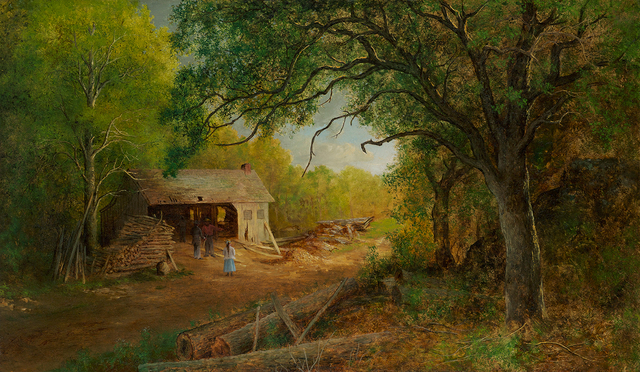 , 'A Sawmill in the Woods ,' , Questroyal Fine Art
