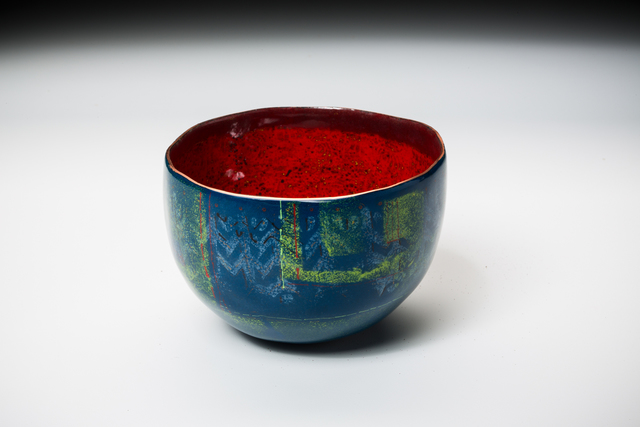 , 'Blue Caverns Bowl,' 2016, Mobilia Gallery