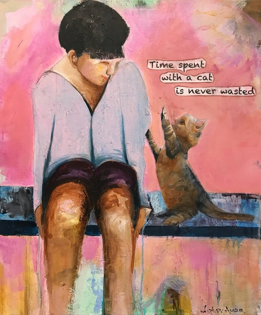 , 'Time Spent with a Cat,' 2018, {9} The Gallery