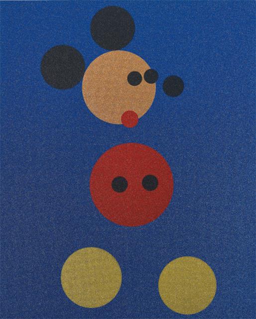 , 'Mickey (Blue Glitter),' 2016, Maddox Gallery