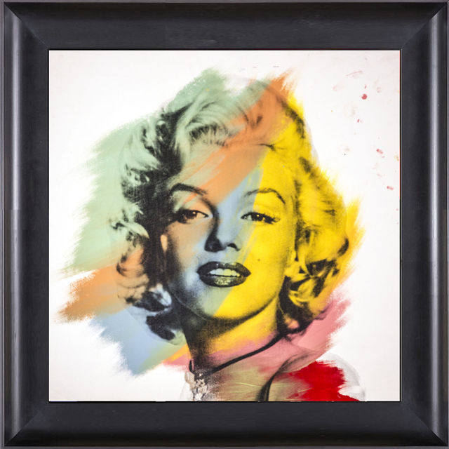 Steve Kaufman, 'Marilyn Monroe Warhol Famous Assistant Oil Painting Canvas 25 x 30', 1996, Modern Artifact