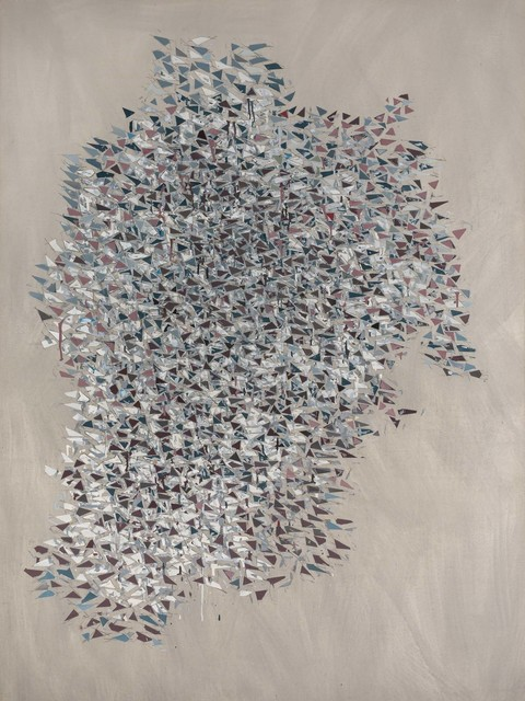 Robert Goodnough, 'Vertical Gray Blue Brown', 1984, Doyle