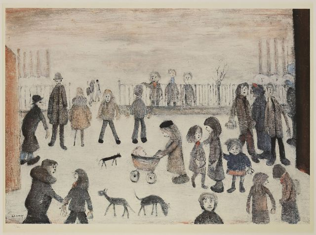 After L S Lowry, 'The Park', 1974, Sworders