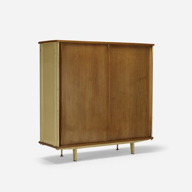 Jean Prouvé, 'armoire, model AP11', 1945, Design/Decorative Art, Enameled steel, oak, Rago/Wright