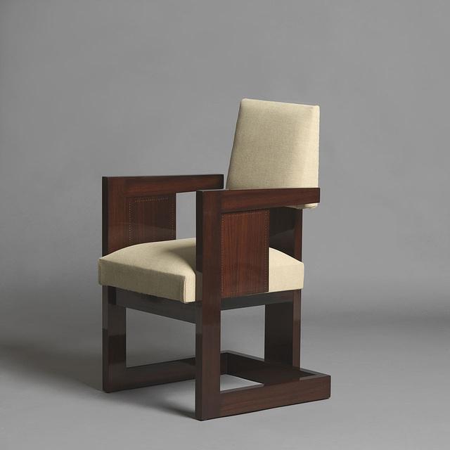 """, 'Pair of """"bridge"""" armchairs,' ca. 1933, Galerie Alain Marcelpoil"""