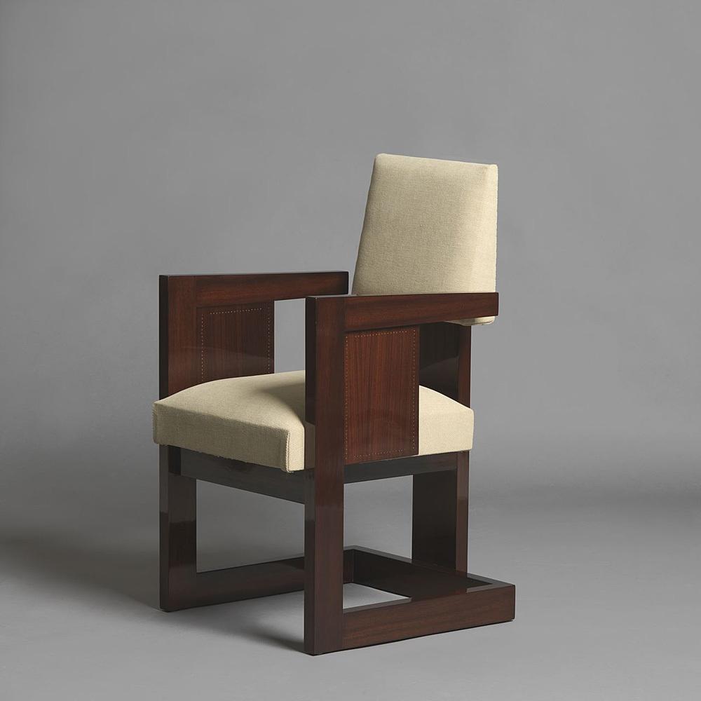 "Pair of ""bridges"" armchairs"