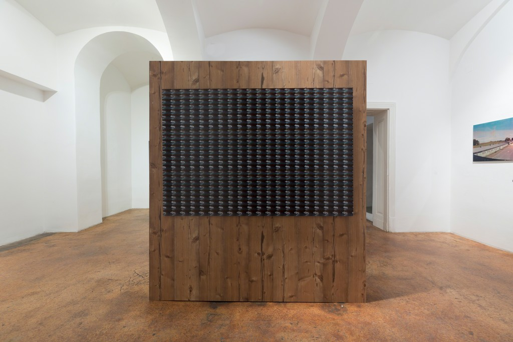 Marko Zink M 48° 15′ 24.13″ N, 14° 30′ 6.31″ E, exhibition view, galerie michaela stock, 2019, photo: Matthias Bildstein