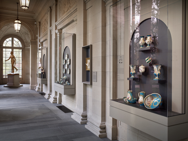 "Installation view of ""From Sèvres to Fifth Avenue: French Porcelain at The Frick Collection"" (2015-2016). Courtesy The Frick Collection, New York."