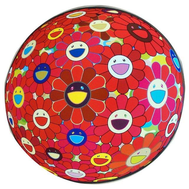 Takashi Murakami, 'Red Flowerball (3D)', 2013, Print, Offset lithograph on paper, Pop Fine Art