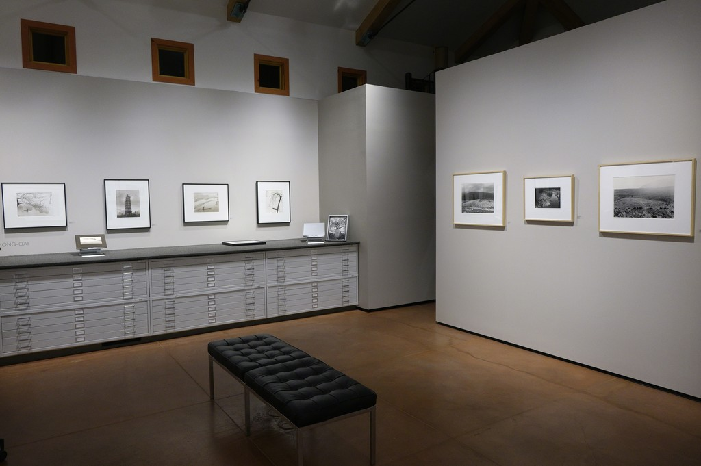 Don Hong-Oai, Photographic Memories (left) also on view at photo-eye gallery. Edward Ranney, Two Landscapes: England & Peru (right).