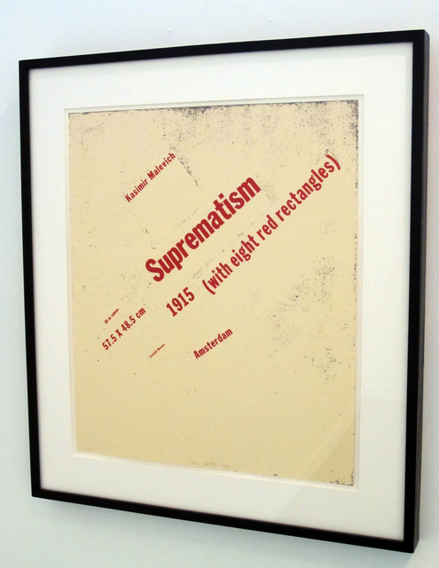 Buzz Spector, 'Suprematism (with eight red rectangles)', 1992, Bruno David Gallery