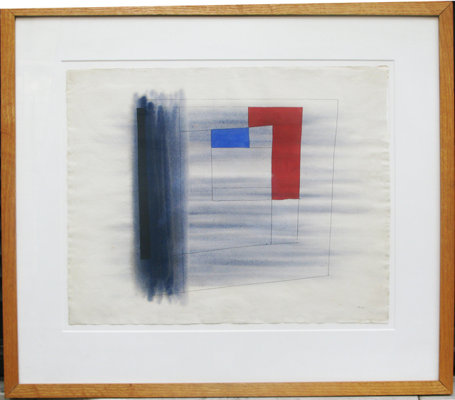 , 'Composition in Grey, Red and Blue,' 1946, Whitford Fine Art