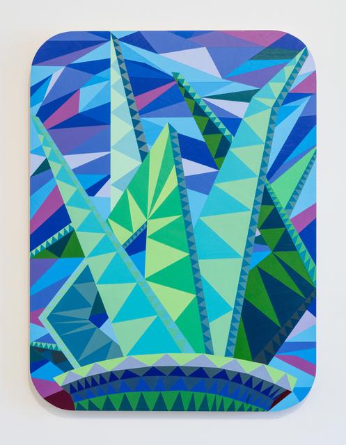 , 'SLATE: Hard Edge Triangle Painting No. 8,' 2016, Erin Cluley Gallery