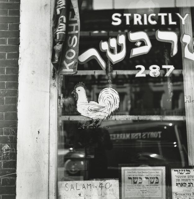, 'Kosher Butcher, New York,' 1939, Hamiltons Gallery