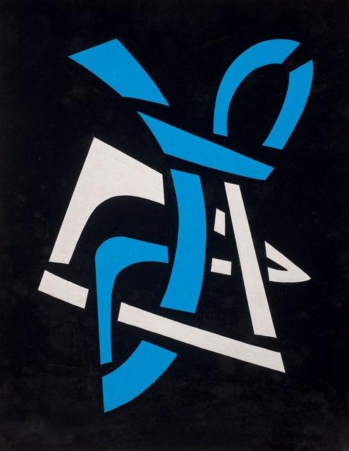 , 'Vitral en azul y blanco,' ca. 1960, Galería de las Misiones