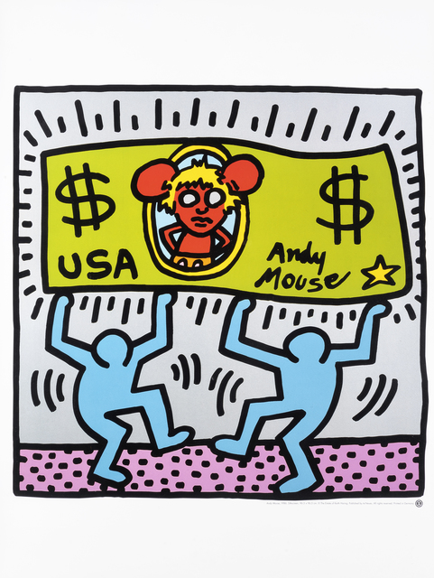 Keith Haring, 'Andy Mouse', 1986, Tate Ward Auctions