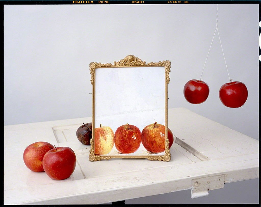 Apples, Painting on Door
