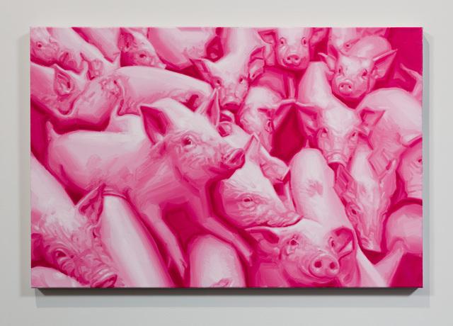 , 'Pink Figures,' 2018, Anat Ebgi