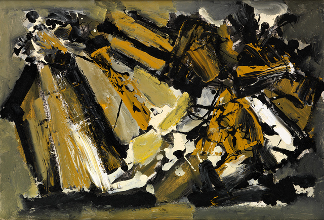 , 'Configuration in Ochre and Grey,' ca. 1960, Whitford Fine Art