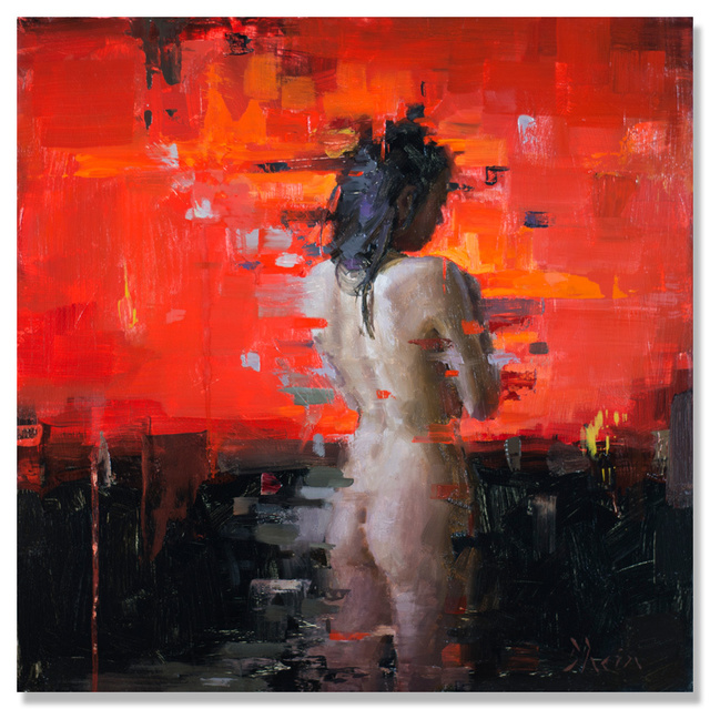, 'Nude in Red,' 2015, Abend Gallery