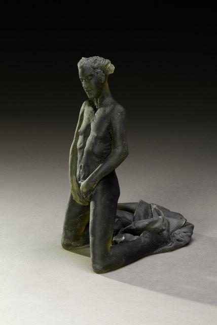 , 'Untitled Scheile Figure (variation/kneeling with garment),' 2015, Nancy Hoffman Gallery