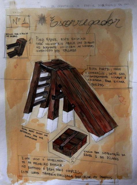 , 'Brinquedos para se construir a partir dos restos de um trilho #1 escorregador [Toy to be set up from the remains of a railway sleeper #1 Slide],' 2013, Portas Vilaseca Galeria