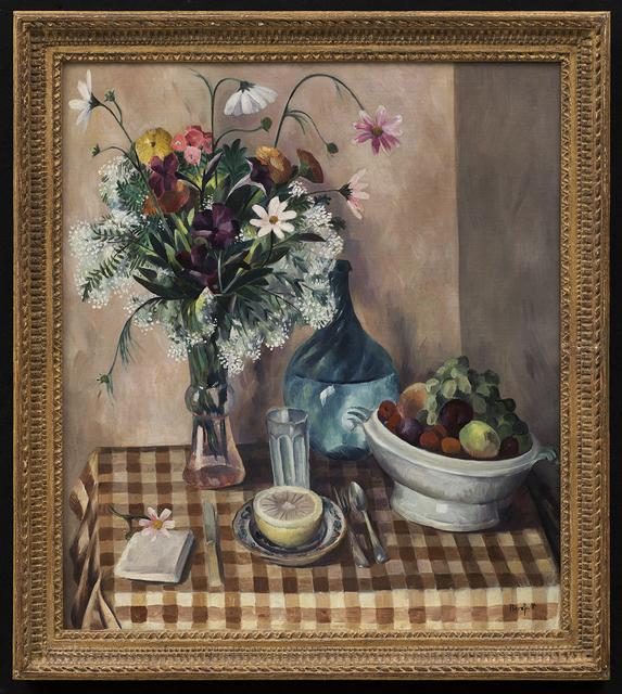 Bror Julius Olsson Nordfeldt, 'Still Life with Grapefruit', ca. 1930, Painting, Oil on canvas, Aaron Payne Fine Art