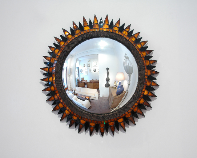 ", 'Black and orange ""Soleil à Pointes n°4"",' ca. 1965, Galerie Chastel-Maréchal"