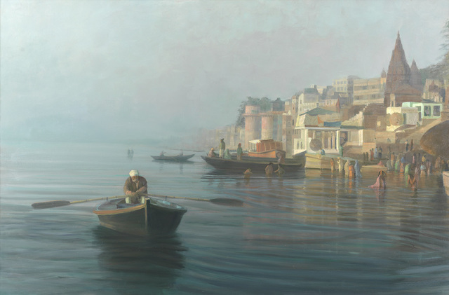 , 'Early Morning on the Ghats, Varanasi,' 2008, Tanya Baxter Contemporary
