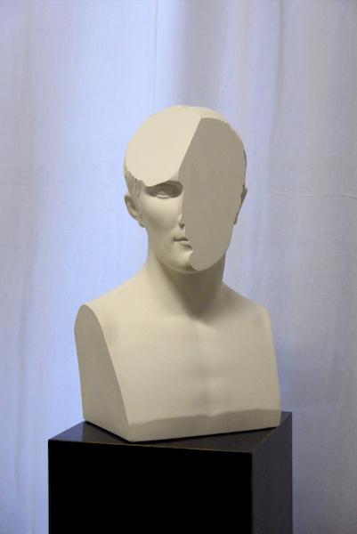 , 'Traccia X, modified plaster bust of Napoleone,' 2014, OTTO ZOO