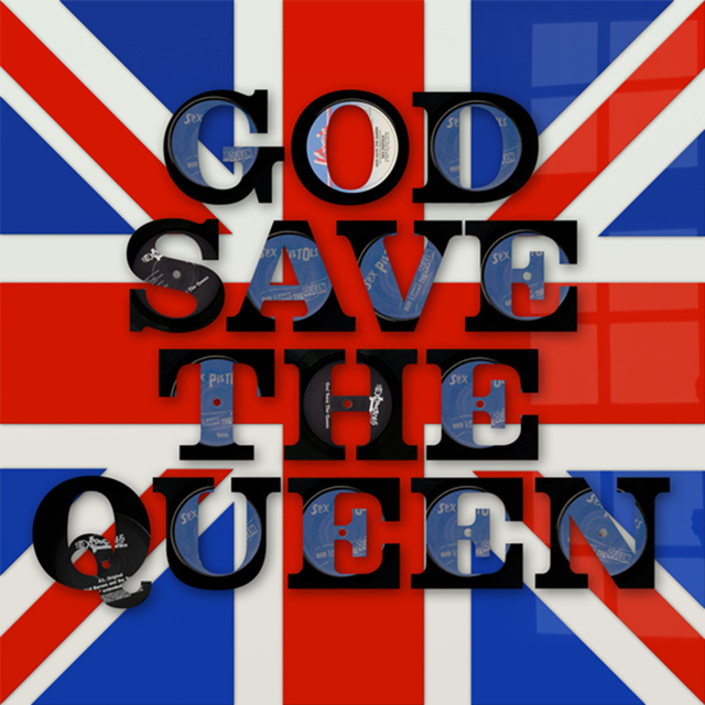 Keith Haynes, 'God Save the Queen Vinyl Words', Gallery Different