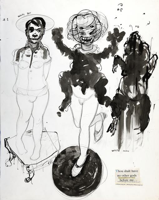 , 'White Boy & White Man = Pig,' 1997, DETOUR Gallery