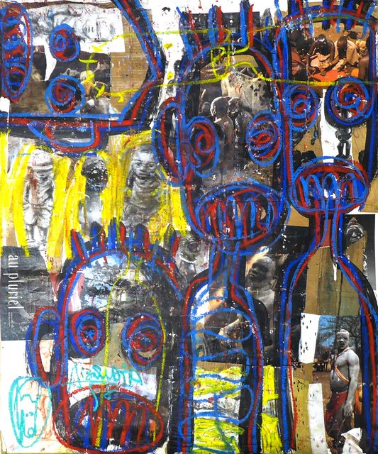 Aboudia, 'Au Pluriel', 2015, Painting, Mixed media on canvas, Ethan Cohen Gallery