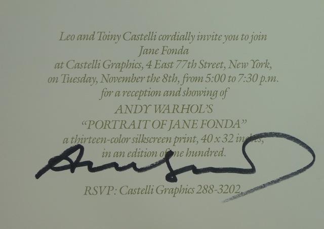 Andy Warhol, 'Portraits of Jane Fonda', 1982, Bengtsson Fine Art