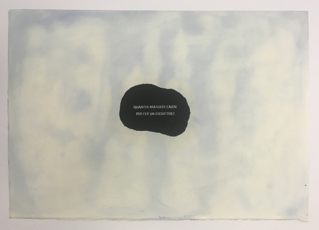 , 'Hi ha tantes obres com arbres,' 2016, Nogueras Blanchard