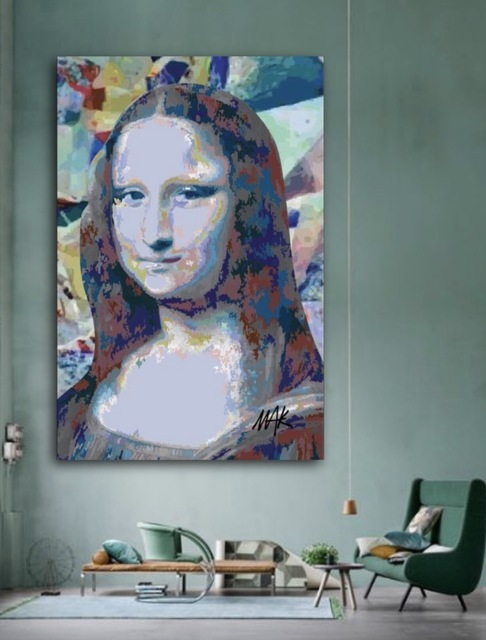 , 'Fake Mona,' 2017, Flat Space Art