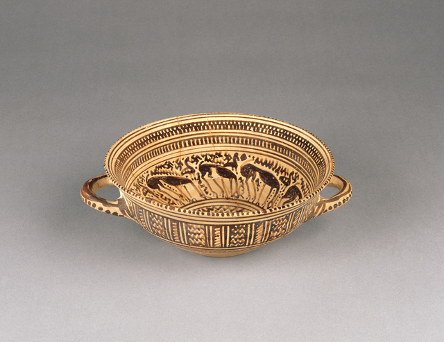 'Late Geometric Cup',  about 730 B.C., J. Paul Getty Museum