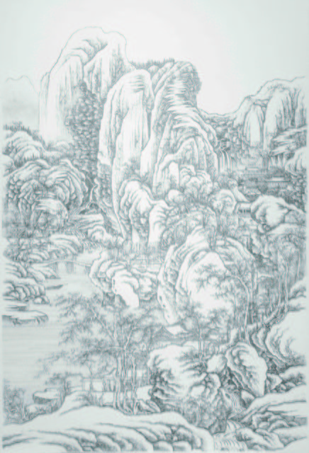 , 'Imitating Mount Emei under heavy snow after Guo Xi, Southern Song Dynasty,' 2013, Tina Keng Gallery