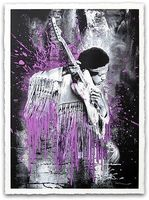 Mr. Brainwash, JIMI HENDRIX (PURPLE)
