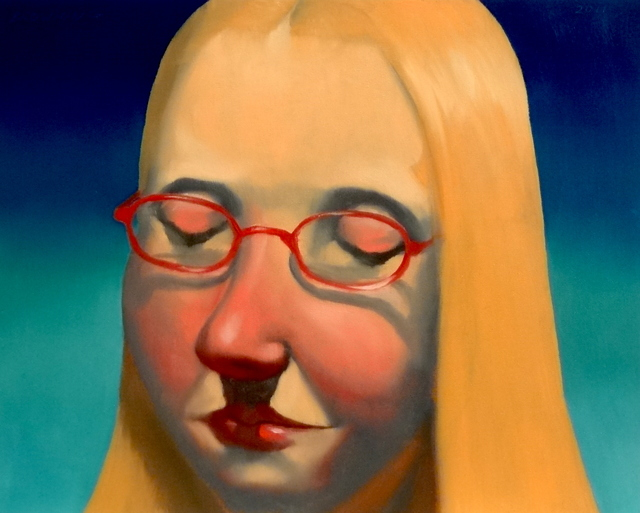 , 'red glasses,' 2016, glave kocen gallery